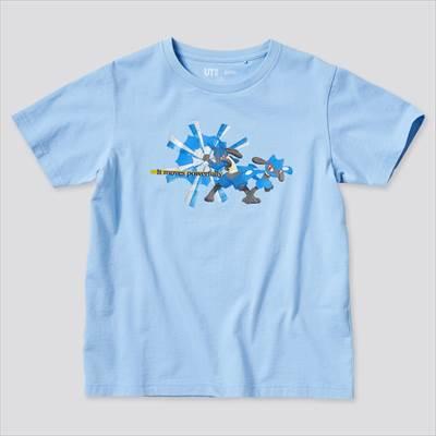 ユニクロのKIDS ポケモン オールスターズ UT グラフィックTシャツ ルカリオ リオル(半袖)