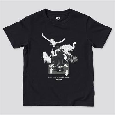 ユニクロのKIDS 呪術廻戦 UT グラフィックTシャツ 伏黒 恵(半袖)