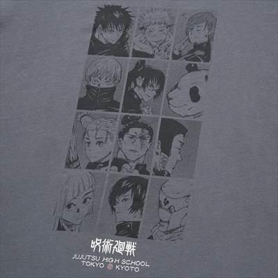 ユニクロの呪術廻戦 UT グラフィックTシャツ(半袖・レギュラーフィット)