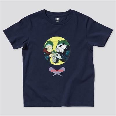 ユニクロのKIDS 呪術廻戦 UT グラフィックTシャツ 虎杖 悠仁 パンダ(半袖)