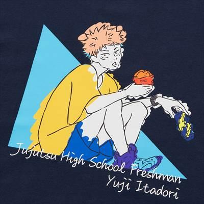 ユニクロのTVアニメ 呪術廻戦 UT グラフィックTシャツ 虎杖 悠仁(半袖・レギュラーフィット)