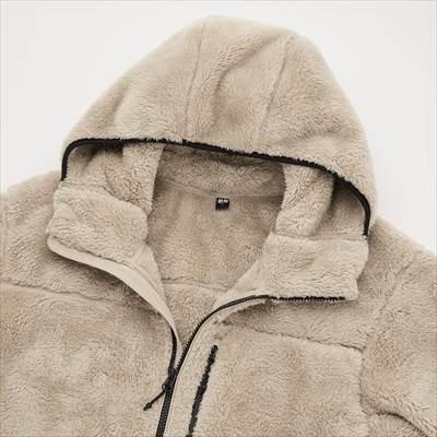 ユニクロの2021年秋冬の新作モデルの防風アウターファーリーフリースフルジップパーカ(長袖)