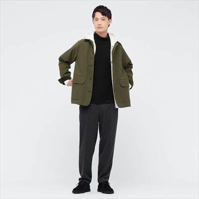 ユニクロの2021年秋冬・新作のヒートテックフリースモックネックTシャツ(長袖)